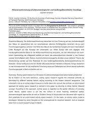Aktionsraumforschung auf phänomenologischer und ...