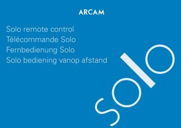 RS232 for Solo - Arcam
