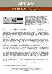 FMJ T32 DAB/FM/AM tuner - Arcam