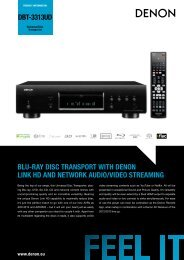 DBT-3313UD BLU-RAY DISC TRANSPORT WITH ... - Denon UK
