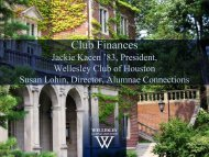 The Dues and Don'ts of Club Finances - Wellesley College