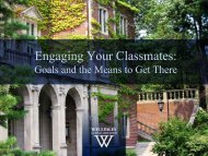 Engaging Your Classmates: - Wellesley College
