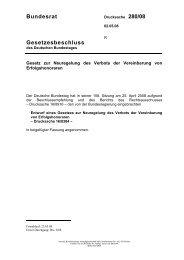 Bundesrat Gesetzesbeschluss - Deutscher Bundestag