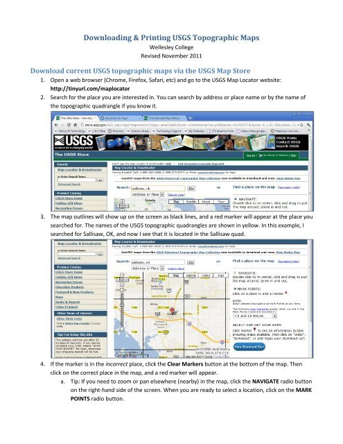 Downloading & Printing USGS Topographic Maps - Wellesley College