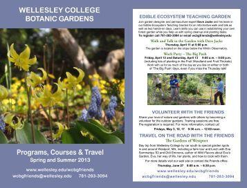 2013 Spring-Summer Program Brochure - Wellesley College