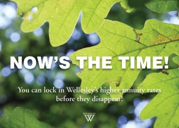 Now's the time! - Wellesley College