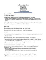 Curriculum Vitae - Wellesley College