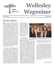 Wegweiser 2009 - Wellesley College
