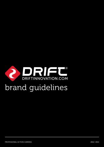 brand guidelines - Drift Innovation