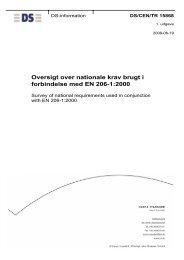 Oversigt over nationale krav brugt i forbindelse ... - Dansk Standard