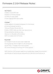 Firmware 2.1.6.4 Release Notes - Drift Innovation