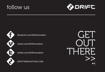 Quick Guide - Drift Innovation - Point of View Cameras