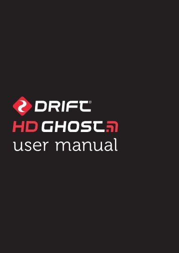 user manual - Drift Innovation