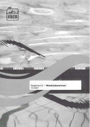 """Reglement D – """"Wedstrijdzwemmen"""" 10-2007"""
