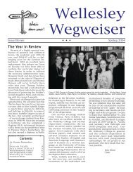 Wegweiser 2004 - Wellesley College