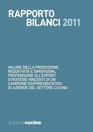 RAPPORTO BILANCI 2011 - B2B24 - Il Sole 24 Ore