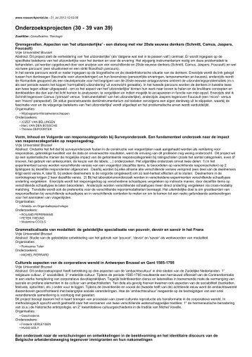 Onderzoeksprojecten (30 - 39 van 39)