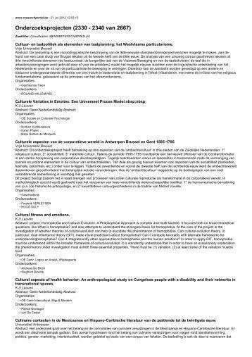 Onderzoeksprojecten (2330 - 2340 van 2667)