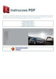 Manual do usuário AUDI A3 - INSTRUCOES PDF