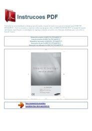 Manual do usuário SAMSUNG WF1602WUV - INSTRUCOES PDF