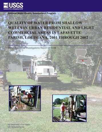 quality of water from shallow wells in urban residential and light ...