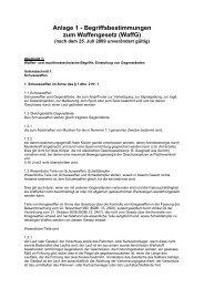 Anlage 1 - Begriffsbestimmungen zum Waffengesetz (WaffG)