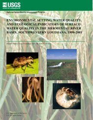environmental setting, water quality, and ecological indicators of