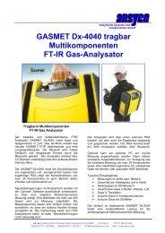 GASMET Dx-4040 tragbar Multikomponenten FT-IR Gas-Analysator