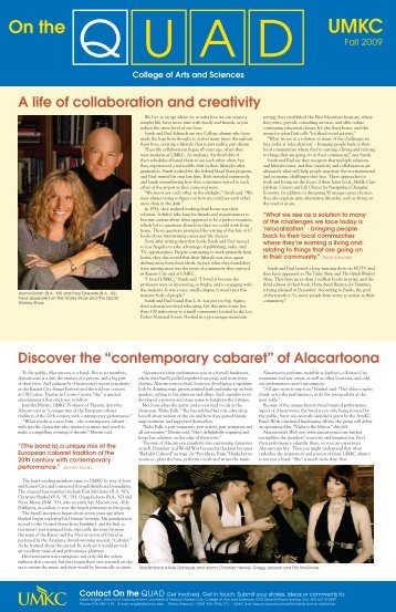 A life of collaboration and creativity - College of Arts and Sciences ...