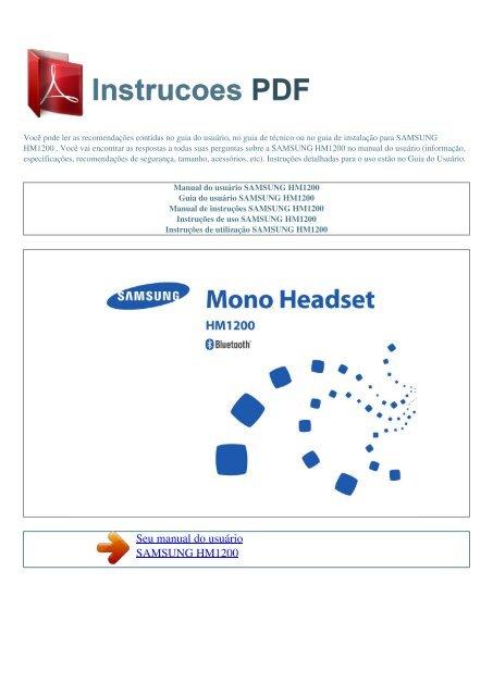 samsung hm1300 manual pdf