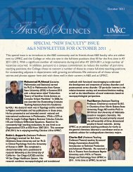 "special ""new faculty"" issue a&s newsletter for october 2011"