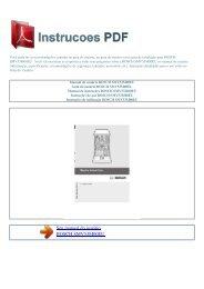 Manual do usuário BOSCH SMV53M00EU - INSTRUCOES PDF