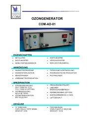 Anseros Ozongenerator COM-AD-01