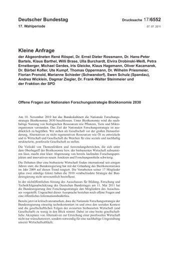 17/6552 - Deutscher Bundestag