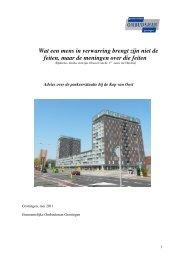 Advies parkeersituatie Kop van Oost - Gemeente Groningen
