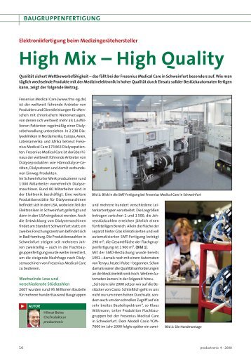 High Mix – High Quality - ANS -answer elektronik- Service