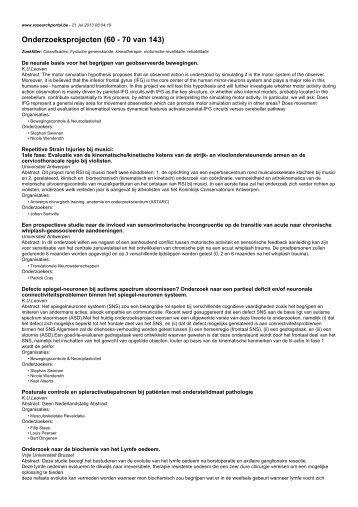 Onderzoeksprojecten (60 - 70 van 143)