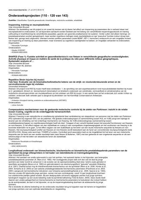 Onderzoeksprojecten (110 - 120 van 143)