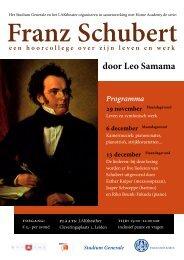 Franz Schubert - Universiteit Leiden
