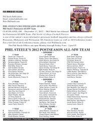 PHIL STEELE'S 2012 POSTSEASON ALL-MW TEAM