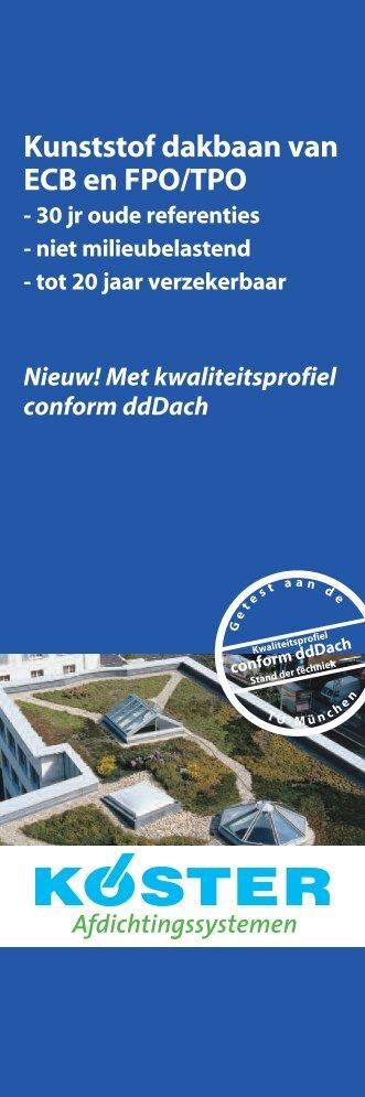 Kunststof dakbaan van ECB en FPO/TPO - Lucobit AG