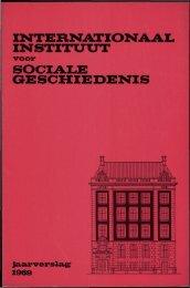 INTERNATIONAAL INSTITUUT - International Institute of Social History