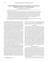 Cobalt Metallorganic Chemical Vapor Deposition and Formation of ...