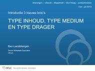 Type inhoud, medium en drager in het GGC - OCLC