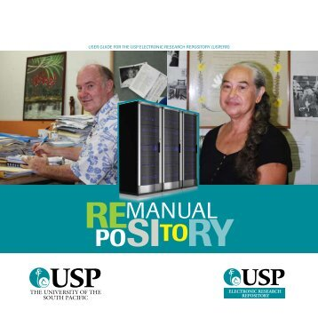 USPERR User Manual - USP Electronic Research Repository - The ...