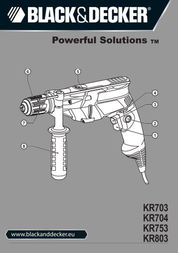 KR703 KR704 KR753 KR803 - Service - Black & Decker
