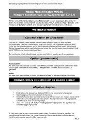 Nokia Mediamaster 9902S Nieuwe functies van softwareversie AD 3.0