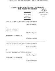 Republic of Ecuador v. Connor - Letters Blogatory
