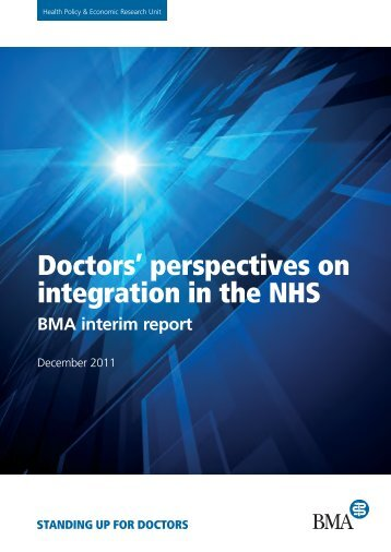 Doctors' perspectives on integration in the NHS - BMA