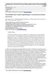 Revalidatie bij visuele beperkingen: invloed op kwaliteit van ... - Nivel